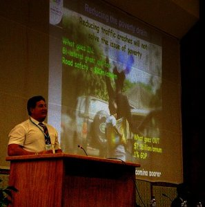 Mike speaking at 4th Africa Road Safety Conference in Accra
